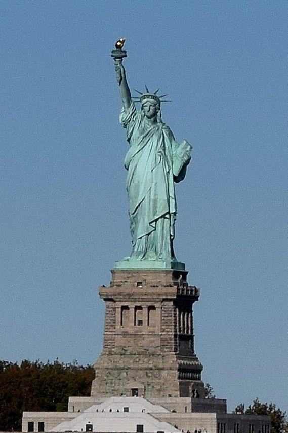 Statue of Liberty from the ocean